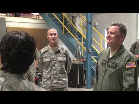 Lt Gen Brad Webb Visits 193rd SOW