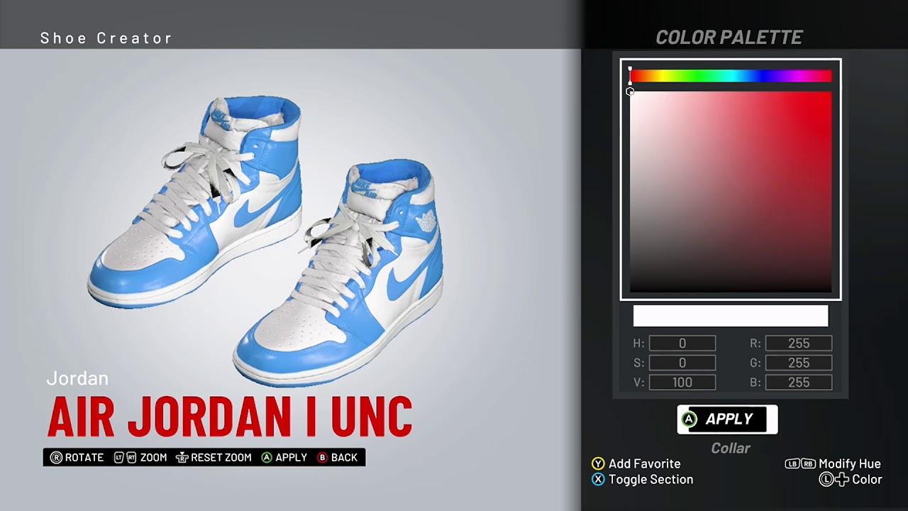 NBA 2K19 Shoe Creator - Air Jordan 1