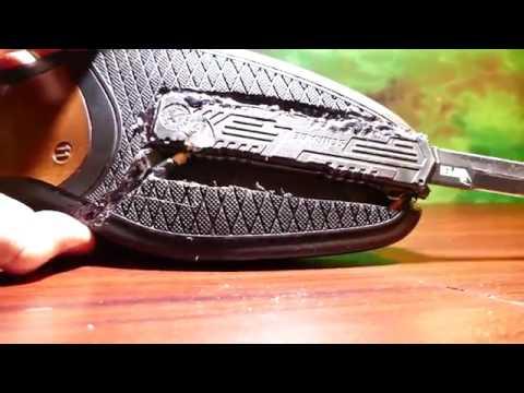 Homemade Spring Loaded SHOE KNIFE - Spy OTF Knife (Joker Boot Knife Kingsman IRL) - YouTube