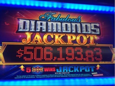 Fabulous Diamonds Jackpot Slot - Big Win!!! Diamond Drop Free Games Bonus - Bally Technologies