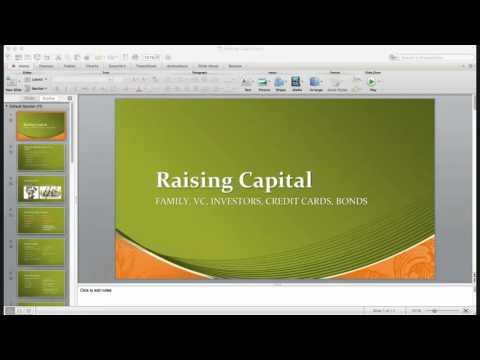 Let's talk about raising money through debt equity