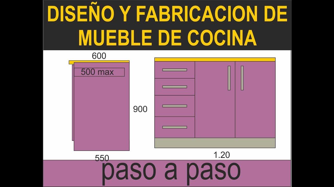 Fabricacion de muebles de melamina dise o y despiece for Muebles de cocina planos pdf