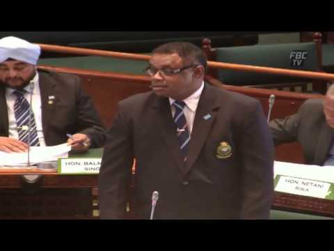 Fijian Minister for Immigration Timoci Natuva answers questi