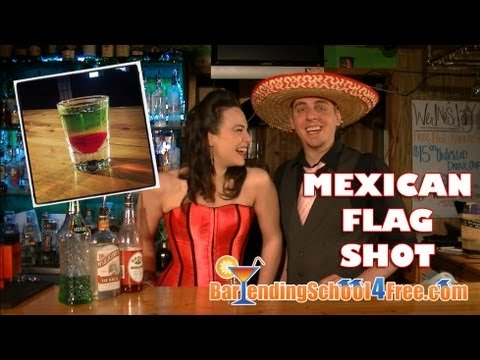 How to Make a Mexican Flag Shot (using Midori Melon ...