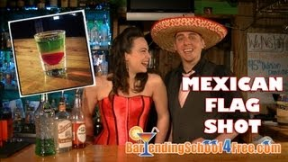 How to Make a Mexican Flag Shot (using Midori Melon Liqueur)