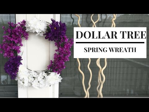 Dollar Store DIY Spring Wreath