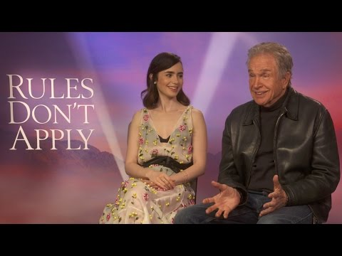 Warren Beatty and Lily Collins on Rules Don't Apply