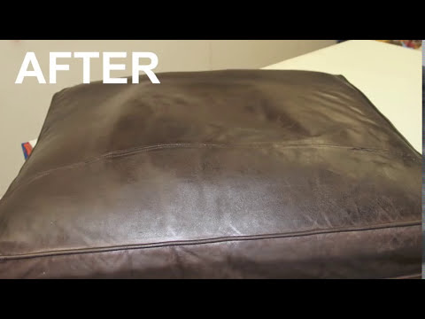 restoring leather sofa beyan atlanta sleeper faded - youtube