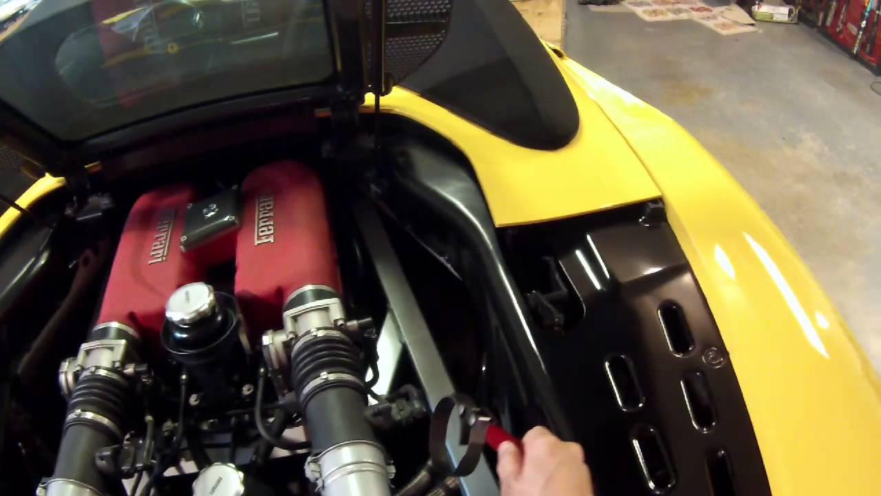 Ferrari 360 oil change