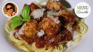 Klopsy gotowane czyli pulpety, w sosie pomidorowym. Pomysł na danie w 30 minut. MENU Dorotki.