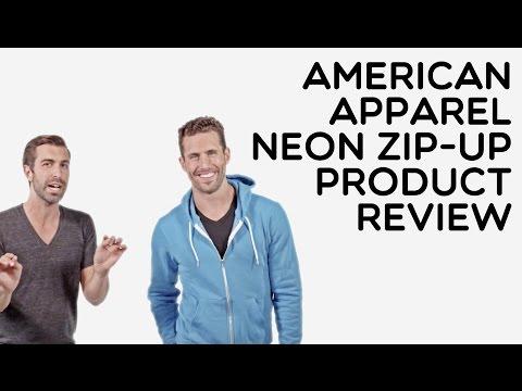Custom American Apparel Full Zip Neon Hooded Sweatshirt Product Review