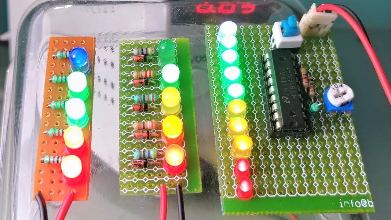 Battery Level Indicator Circuit Youtube