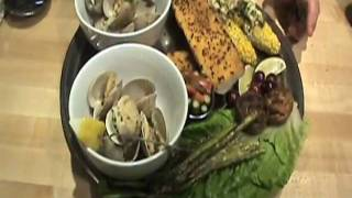Grilled Clams, Asparagus & Corn With Scrumptious Butter & Garlic