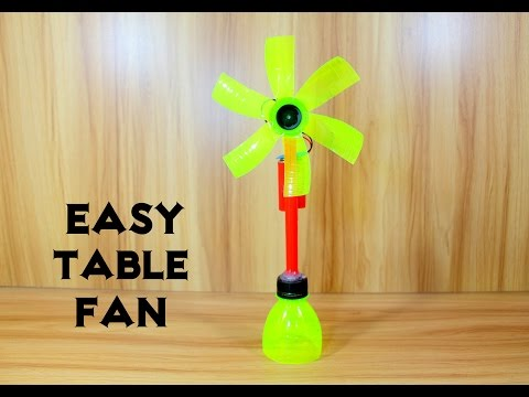 How to Make an Electric Table Fan using Bottle - Very Easy
