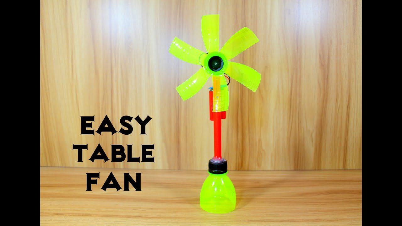 How To Make An Electric Table Fan Using Bottle