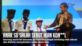 Heboh! Anak SD Salah Sebut Ikan Kon**l di Depan Jokowi