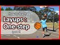 #4. How to teach: Layups Part 1 › One-step & shoot | Basketball skills in PE