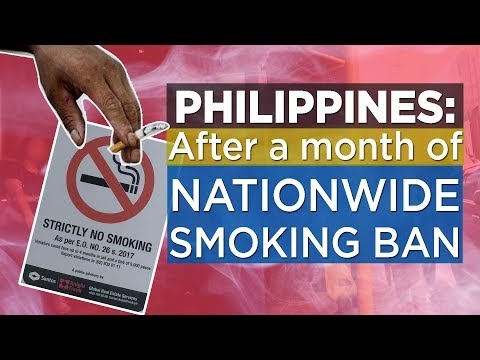 Philippines:  After 1 month of Nationwide Smoking Ban