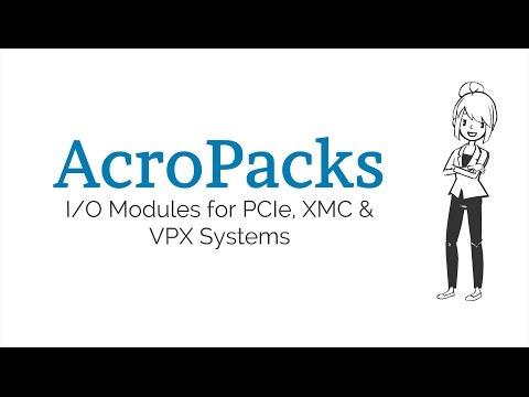 AcroPacks: MIL/Rugged mPCIe-based I/O Modules