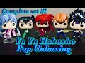 Unboxing The Complete Set of Yu Yu Hakusho Pops!!! Yusuke, Kurama, Kuwabara, Botan and Hiei