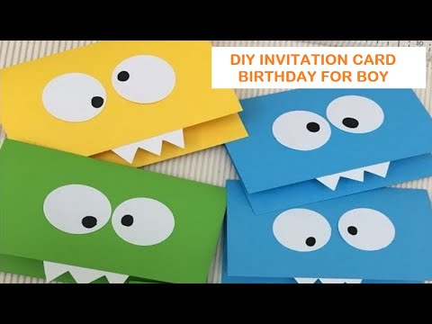 DIY|| How to make ice cream invitation card birthday party || cara membuat kartu ucapan ice cream.