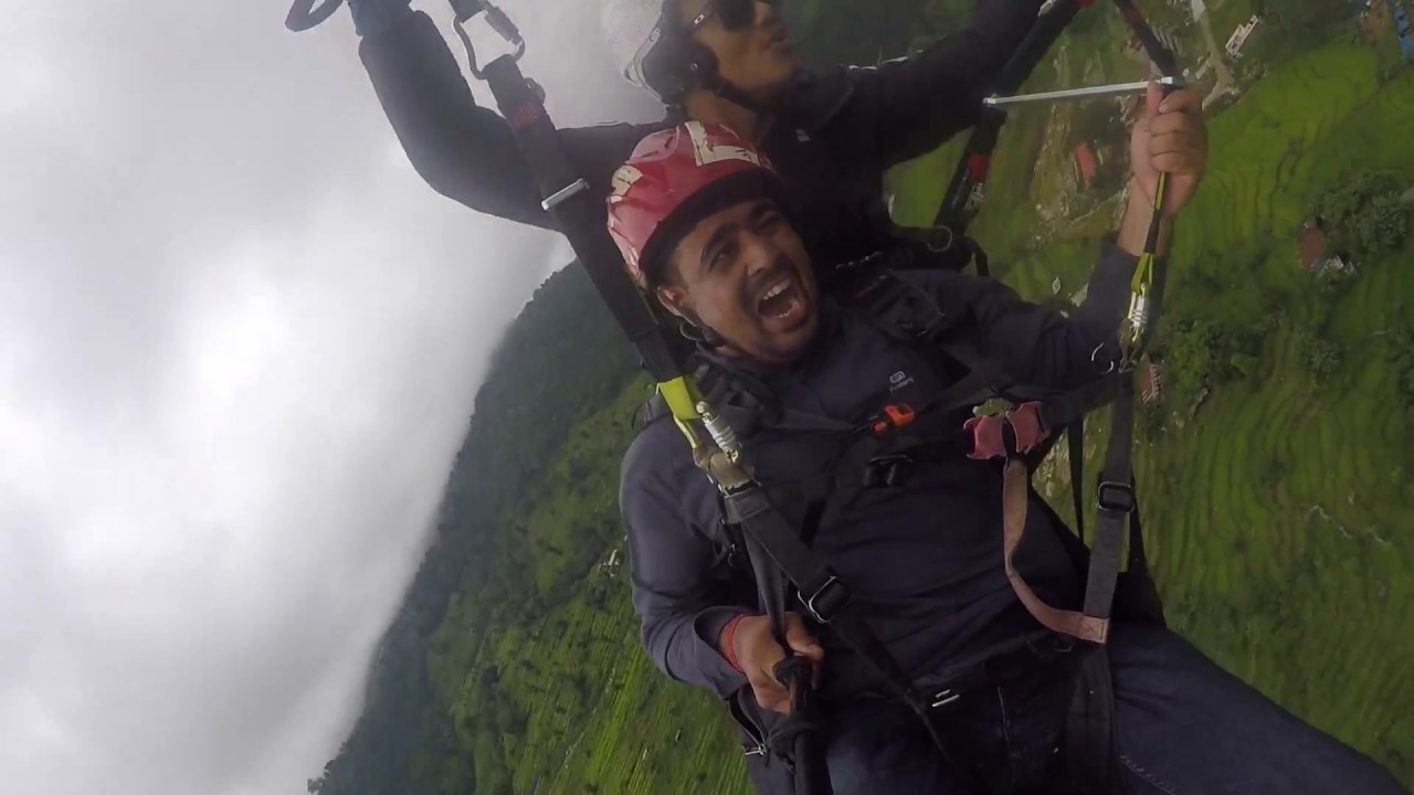 Paragliding in Pokhara Aug'18