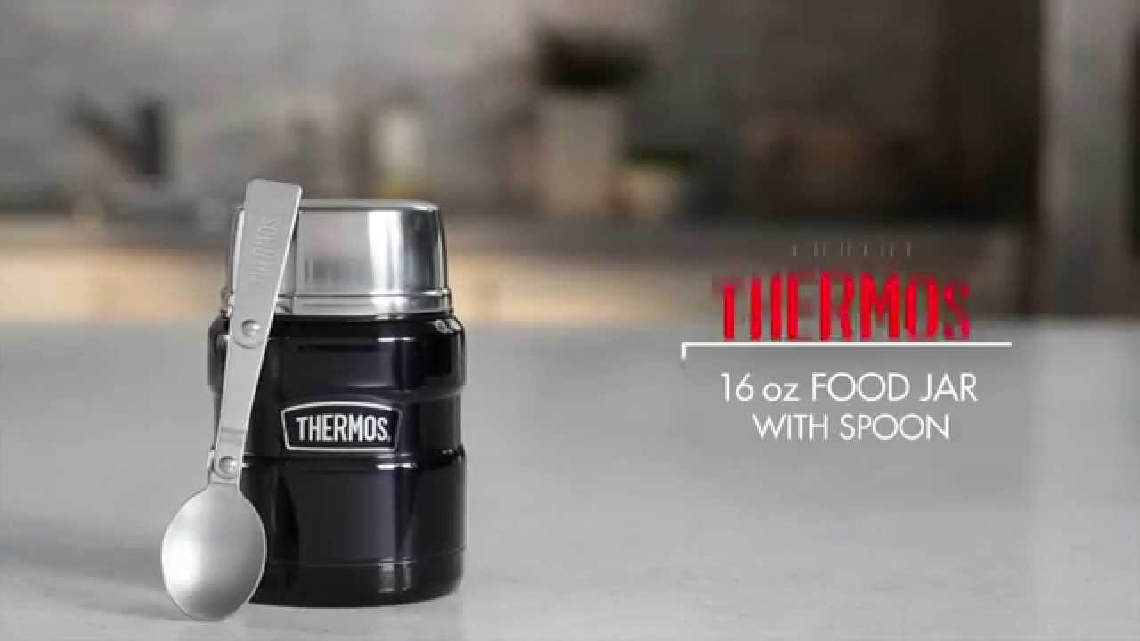 16 Oz Vacuum Insulated Food Jar With Spoon Youtube