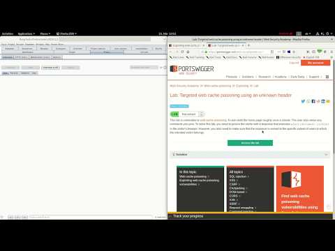 Targeted Web Cache Poisoning Using An Unknown Header (Video Solution)
