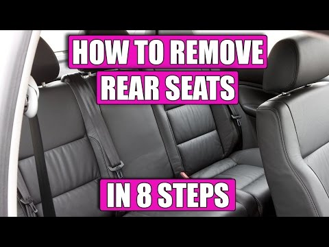 TUTORIAL: HOW TO remove rear seats VW Golf Mk4 (coupe), Bora, Jetta in 8 simple steps!