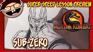 Lesson Preview: How to Draw SUB-ZERO (Mortal Kombat X) | Super Speed Time Lapse Art