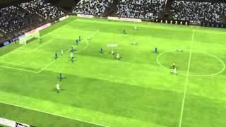 Golo de Mbia marcado aos 66 minutos do jogo Q.P.R. vs Leicester no ...
