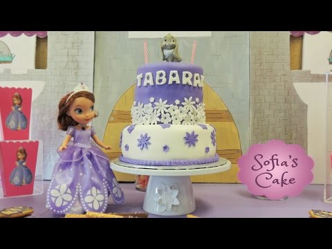 Princess Sofia the first birthday theme party / fondant cake / decorations