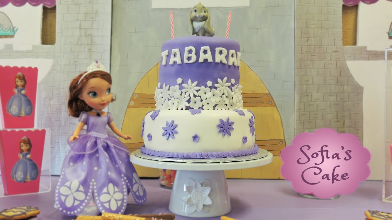 Princess Sofia The First Birthday Theme Party Fondant Cake Decorations You