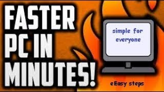 How to make your pc/laptop run faster (3 simple steps):simple4every1