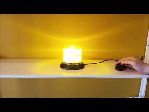 Super Bright 12W LED Amber Emergency Waring Beacon Strobe Light