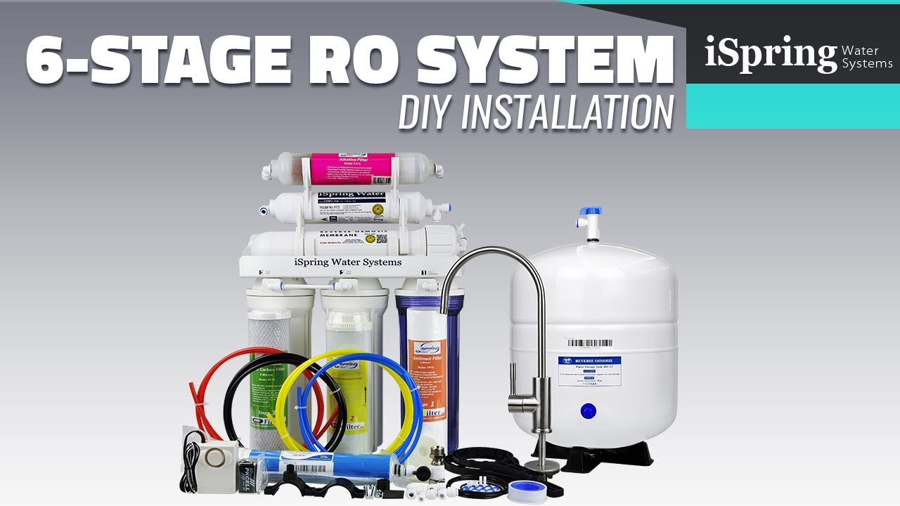 ispring reverse osmosis installation (with english subtitle)  ispring water  systems