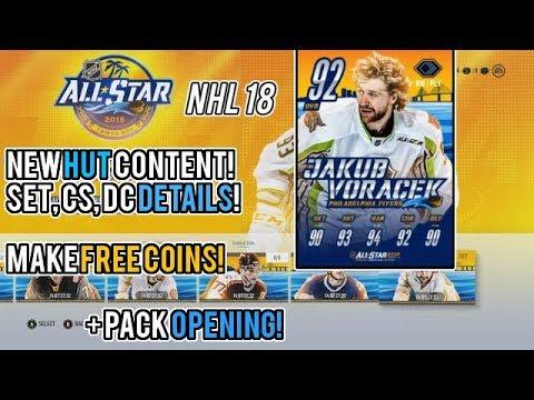 NHL 18 HUT   ALLSTAR GAME SET DETAILS, FREE 100k+ COINS!
