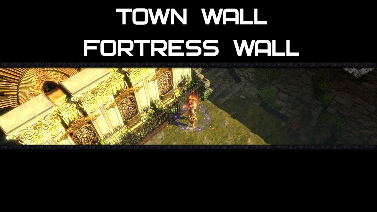 Town and Fortress Wall [Separate Decorations - Hideout PoE]