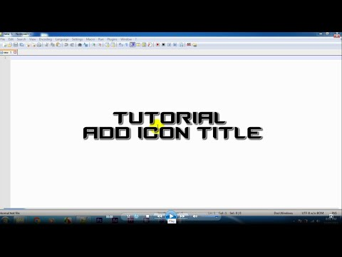 Tutorial HTML: Add Icon Title