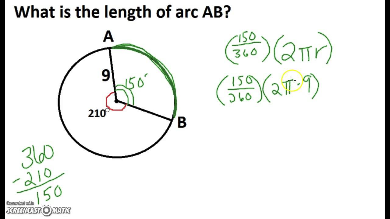 Arc Length And Sector Area Example 1