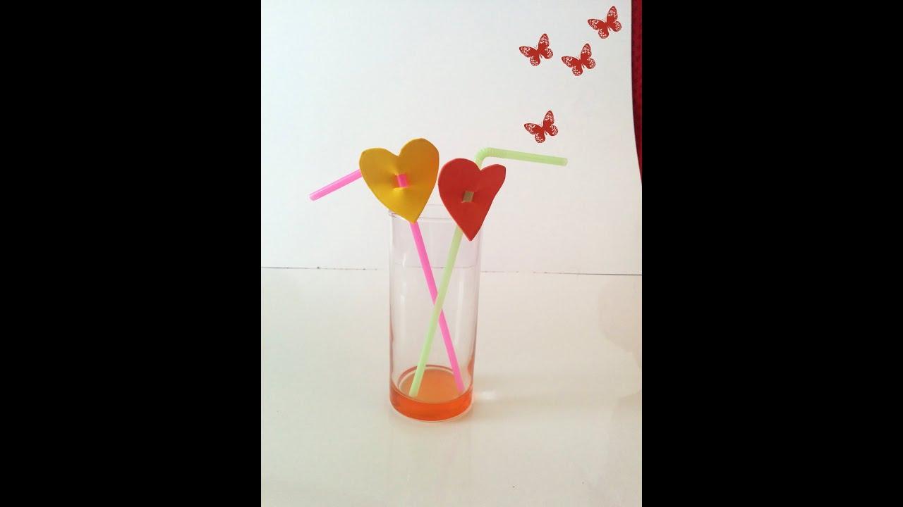 Decoraci n san valent n bebidas con corazones para el d a for Decoracion de pared para san valentin