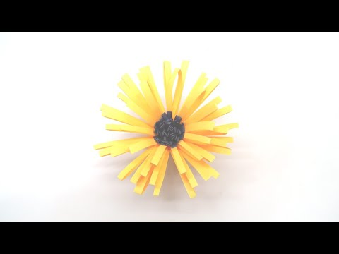 How to make a paper Sunflower | DIY Paper Craft Videos