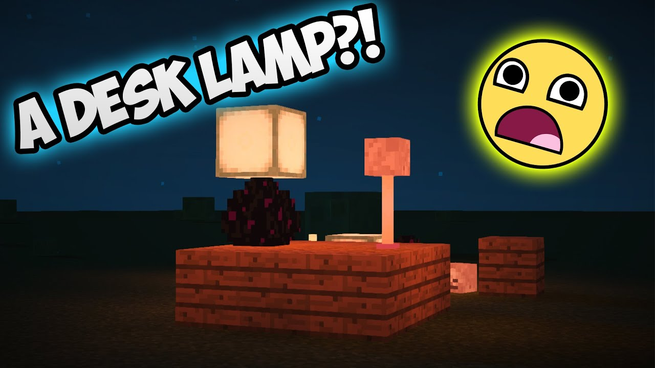 Minecraft: How To Make A Desk Lamp!   YouTube