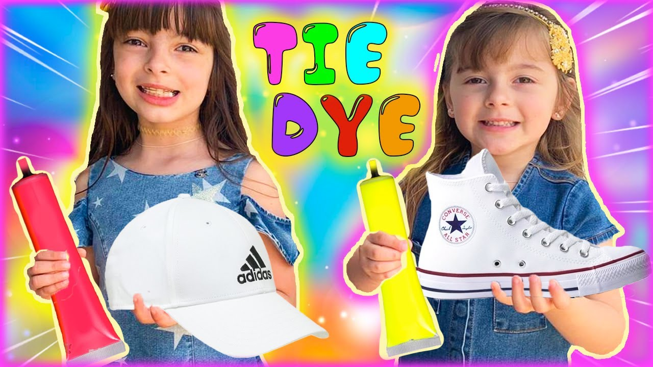 TRANSFORMEI MINHA CASA EM UMA FÁBRICA DE TIE DYE (My house is a tie dye factory) LAURINHA E HELENA
