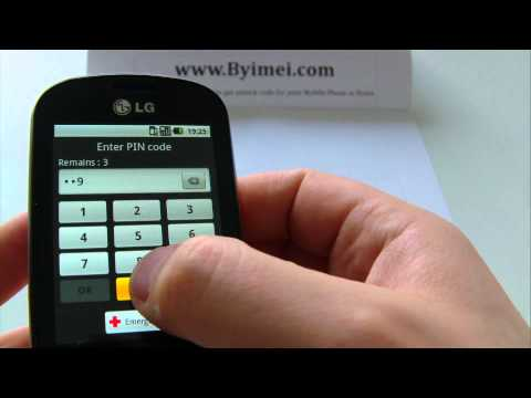 LG P350 Optimus Me Unlock & input / enter code.AVI