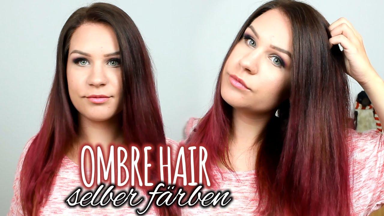 Neue Haarfarbe Ombre Braun Pink Rote Haare Youtube