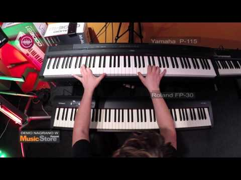 Roland FP-30 vs Yamaha P-115 - Grand Piano sounds comparison [E-MUZYK.pl]