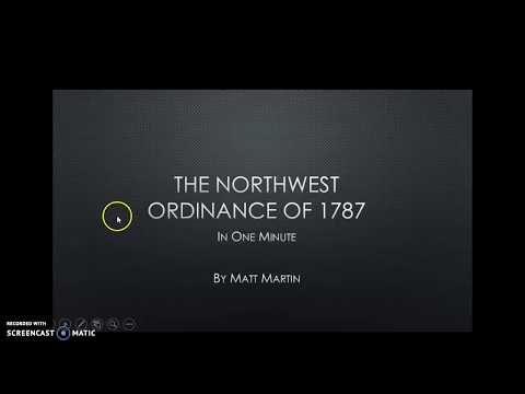 One Minute History: The Northwest Ordinance of 1787