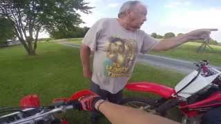 Old Man Threatening Dirtbike Rider
