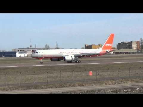 Aviastar Tupolev Tu-204-100 Landing in Tallinn